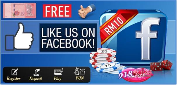 918Kiss Casino Facebook Bonus